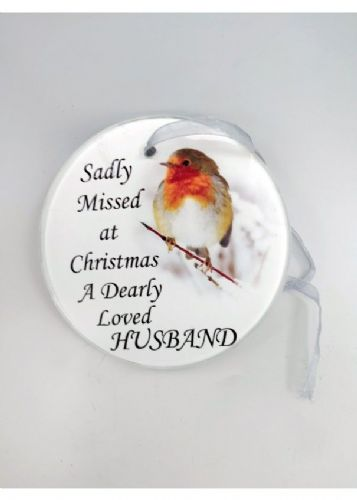 Husband Glass Memorial Tree Hanger